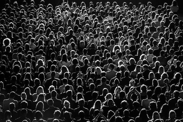 Rear View Photograph - Full Frame Shot Of Crowd At Music by Rytis Seskaitis / Eyeem