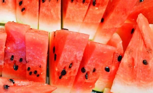 Full Frame Photograph - Full Frame Shot Of Watermelon Slices by Jackie Kimura / Eyeem