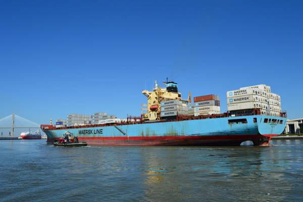 Wall Art - Photograph - Full Length Maersk Carolina by Linda Covino