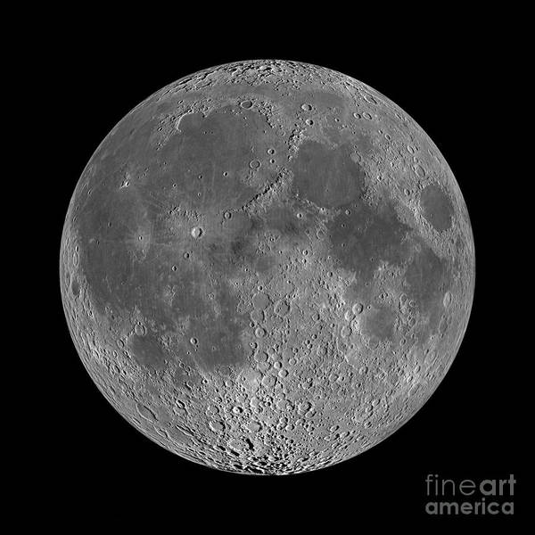 Satellite Photograph - Full Moon 2 by Jon Neidert