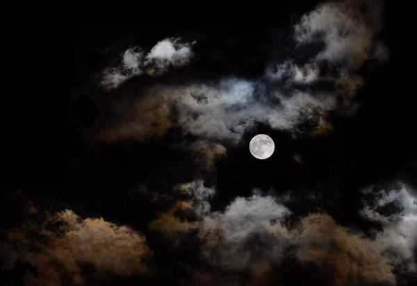 Full Moon After The Storm Art Print
