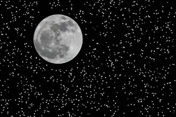 Full Moon And Stars Art Print