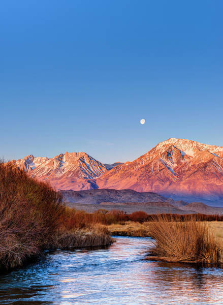 Wall Art - Photograph - Full Moon At Sunrise Over Eastern by Josh Miller Photography