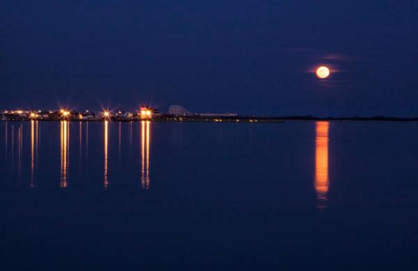 Photograph - Full Moon Cape May by Tom Singleton