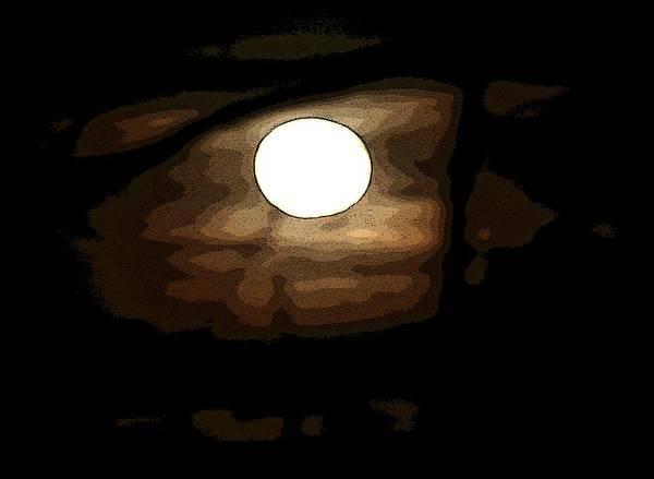 Full Moon Art Print by Carolyn Reinhart