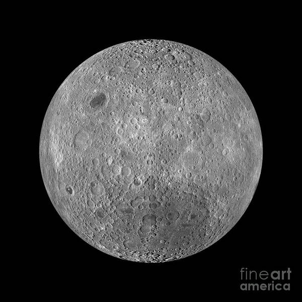 Satellite Photograph - Full Moon by Jon Neidert