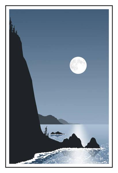 101 Digital Art - Full Moon by Kenneth Wilson