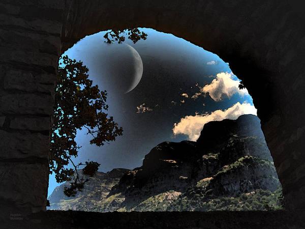 Photograph - Full Moon Landscape by Augusta Stylianou