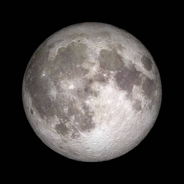 Wall Art - Photograph - Full Moon by Nasa/gsfc-svs/science Photo Library