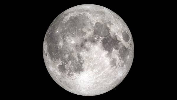 Lola Photograph - Full Moon by Nasa's Scientific Visualization Studio/science Photo Library