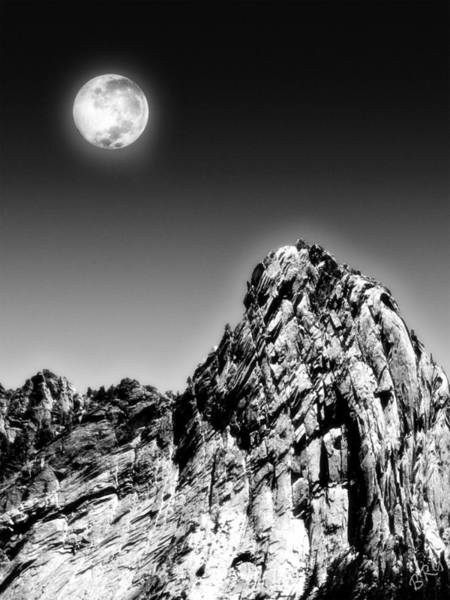 Photograph - Full Moon Over The Suicide Rock by Ben and Raisa Gertsberg