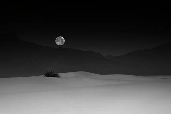 Simple Wall Art - Photograph - Full Moon Over White Sands by Lydia Jacobs