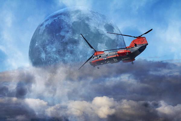 Super Moon Photograph - Full Moon Rescue by Betsy Knapp