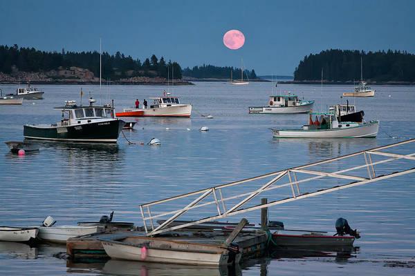 Stonington Photograph - Full Moon Rising by Don Seymour