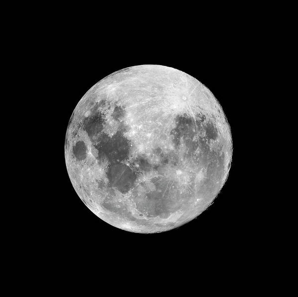 Photograph - Full Moon by Robert Gendler/science Photo Library