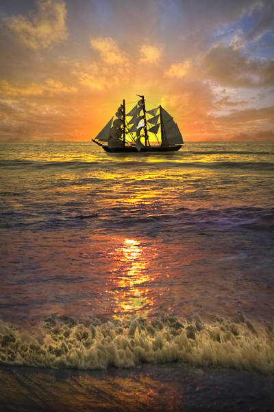 Boynton Photograph - Full Sail by Debra and Dave Vanderlaan