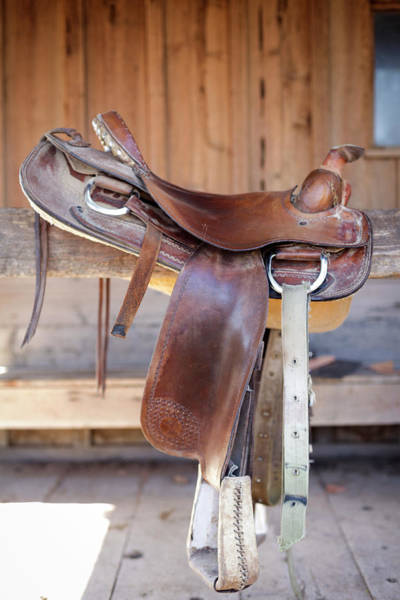 Wall Art - Photograph - Full View Of A Saddle Resting by Julien Mcroberts