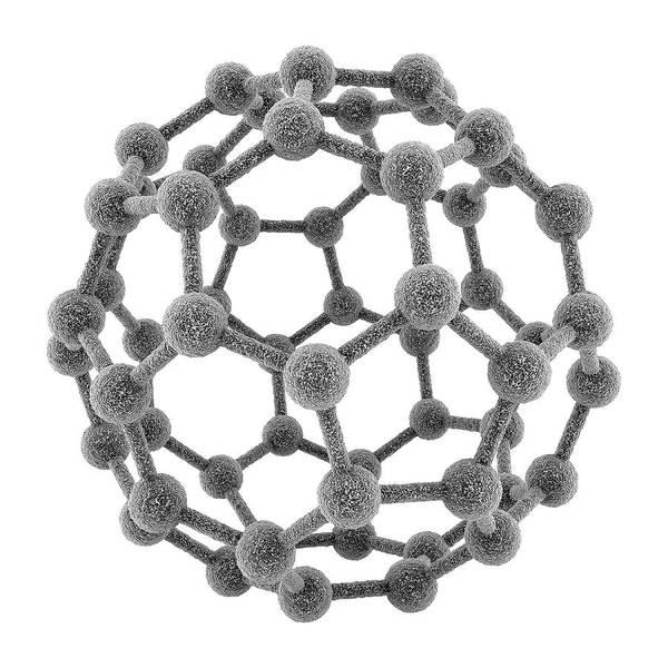 Cutout Wall Art - Photograph - Fullerene Molecule by Maurizio De Angelis/science Photo Library