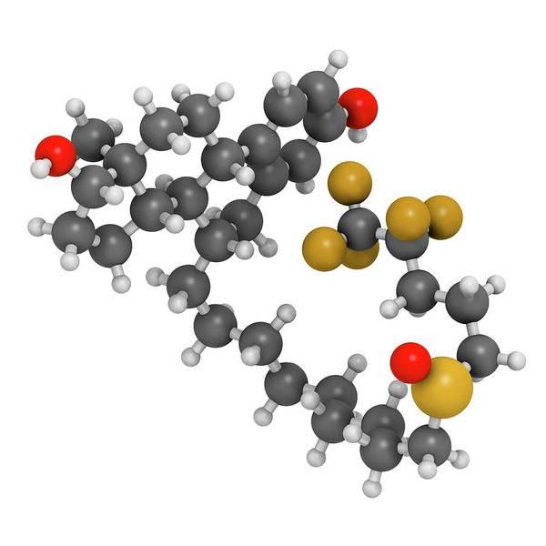 Pharma Wall Art - Photograph - Fulvestrant Breast Cancer Drug Molecule by Molekuul