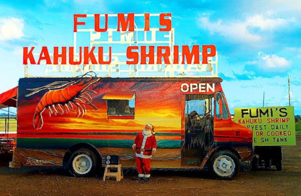 Oahu Digital Art - Fumis Kahuku Shrimp by Ron Regalado