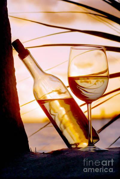 White Wine Photograph - Fun At The Beach by Jon Neidert