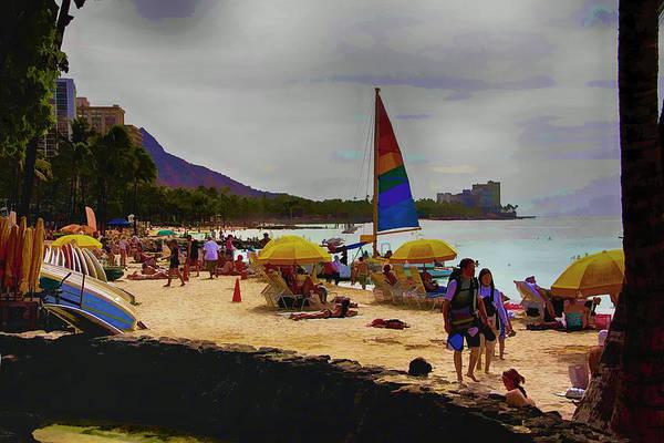 Ohau Wall Art - Photograph - Fun At Waikiki Beach Hawaii by Douglas Barnard