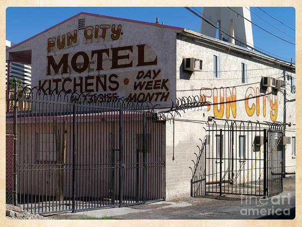 Photograph - Fun City Las Vegas Motel by Edward Fielding