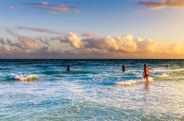Photograph - Fun In The Sea At Playa Del Carmen by Mark E Tisdale