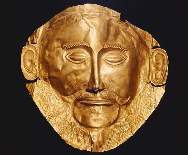 Morea Wall Art - Photograph - Funerary Mask Og Agamemnon. Ca. 1550 by Everett
