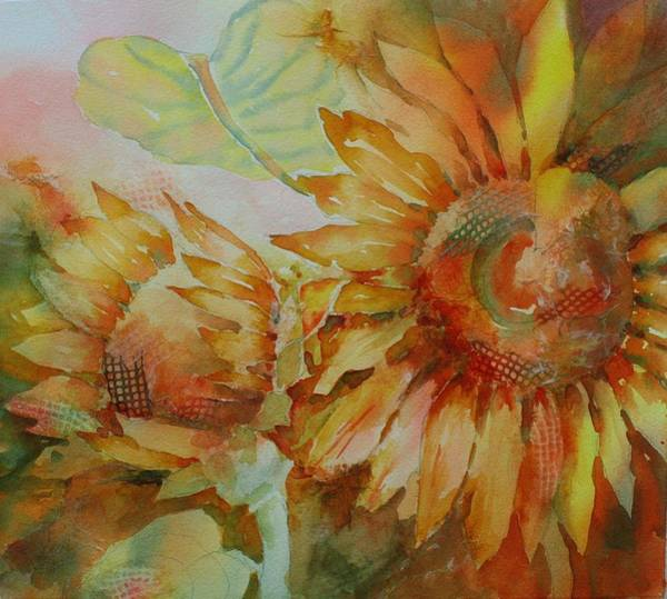 Painting - Funflowers by Tara Moorman