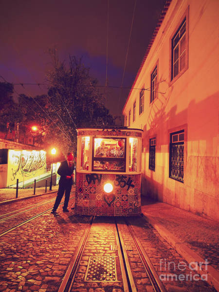 Carris Photograph - Funicular In Lisbon by Karol Kozlowski