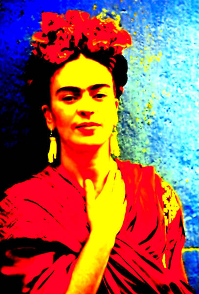 Mixed Media - Funky Frida IIi by Michelle Dallocchio