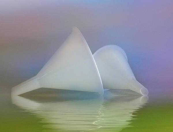 Digital Art - Funnels In The Flood by Grace Dillon