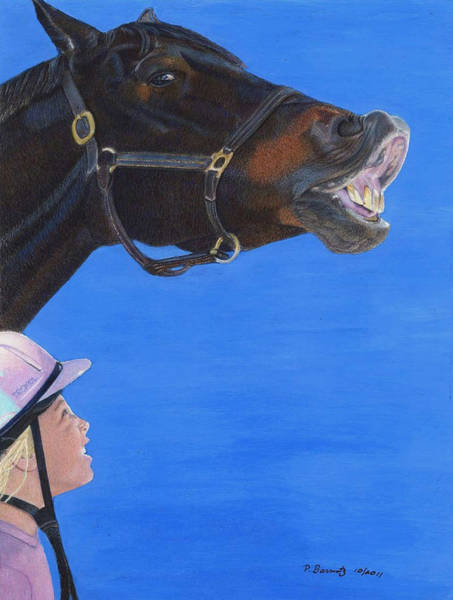 Painting - Funny Face - Horse And Child by Patricia Barmatz