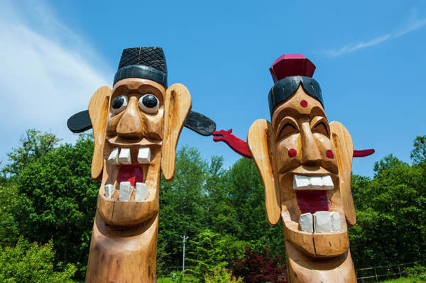 Carving Photograph - Funny Statues At The High Security by Michael Runkel