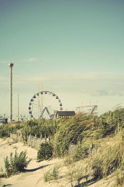 Photograph - Funtown Pier Seaside Park New Jersey Vintage by Terry DeLuco