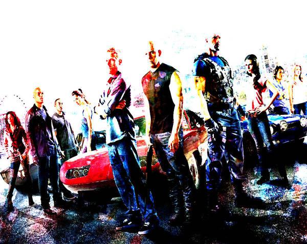 Dwayne Johnson Wall Art - Digital Art - Furious by Brian Reaves