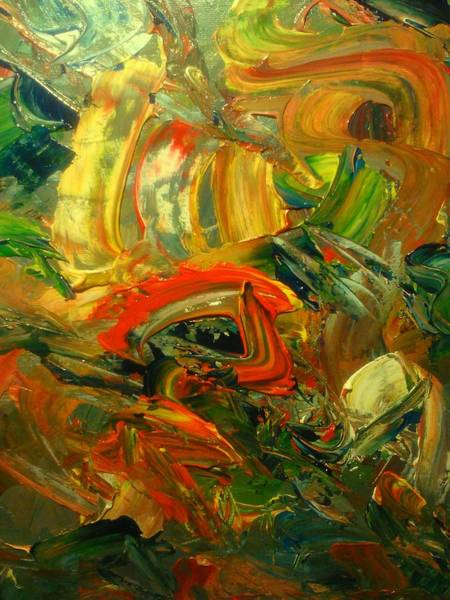 Painting - Furious Brush by Ray Khalife