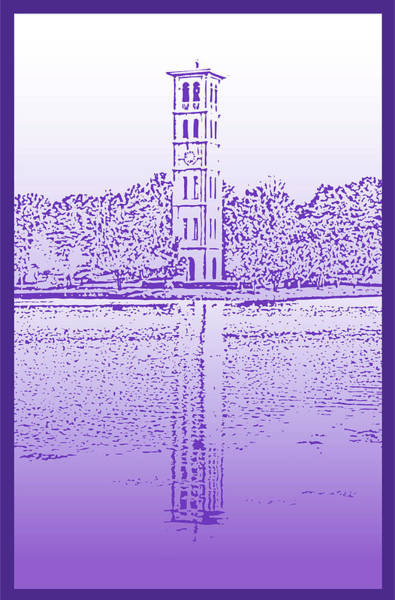 Lake Digital Art - Furman Bell Tower by Greg Joens
