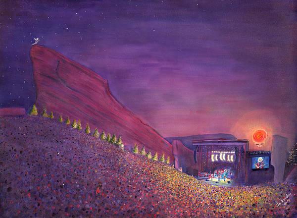 Painting - Furthur Red Rocks Equinox by David Sockrider