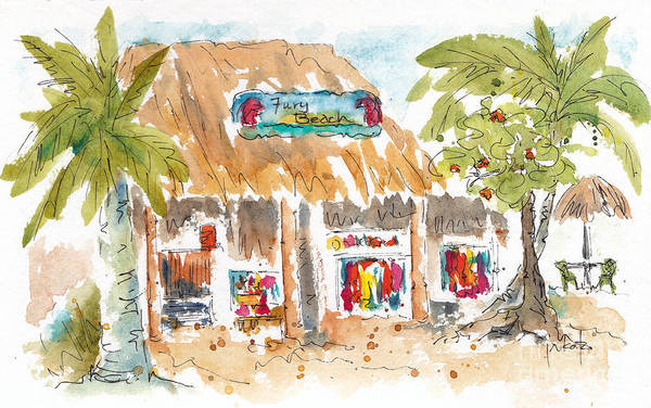 Painting - Fury Beach by Pat Katz