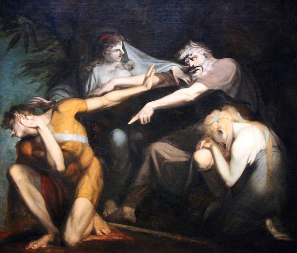 1741 Photograph - Fuseli's Oedipus Cursing His Son Polynices by Cora Wandel