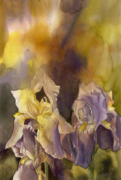 Painting - Fusion Irises by Alfred Ng