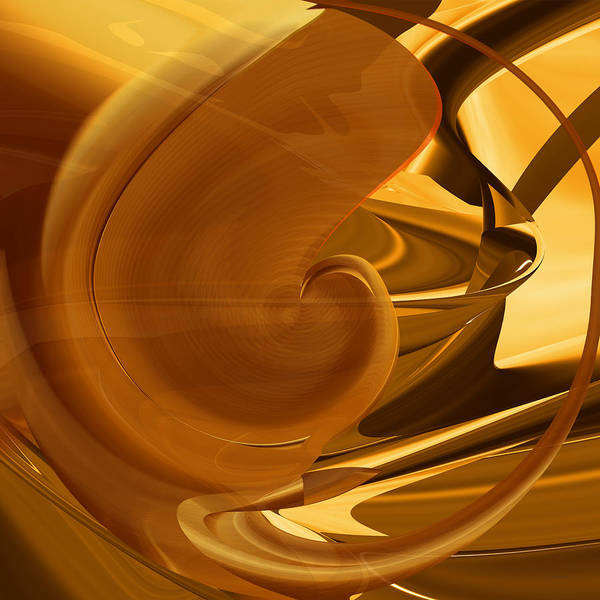Digital Art - Future Of Brown Nautilus Abstract by rd Erickson