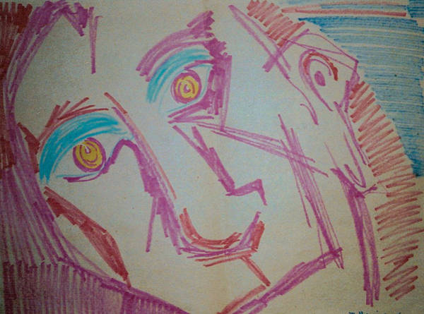 Primary Colors Drawing - Future Shock by Mike Manzi
