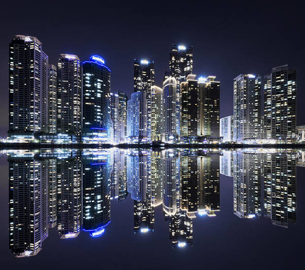 Blade Runner Photograph - Futuristic City Busan by Jimmy McIntyre