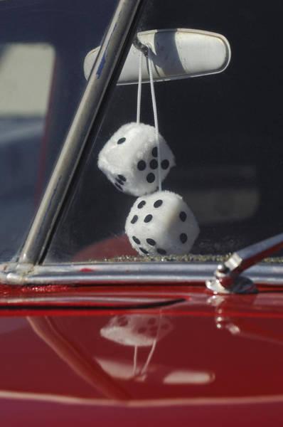Car Part Photograph - Fuzzy Dice 2 by Jill Reger