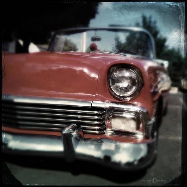 Photograph - Fuzzy Dice Chevy by Tim Nyberg
