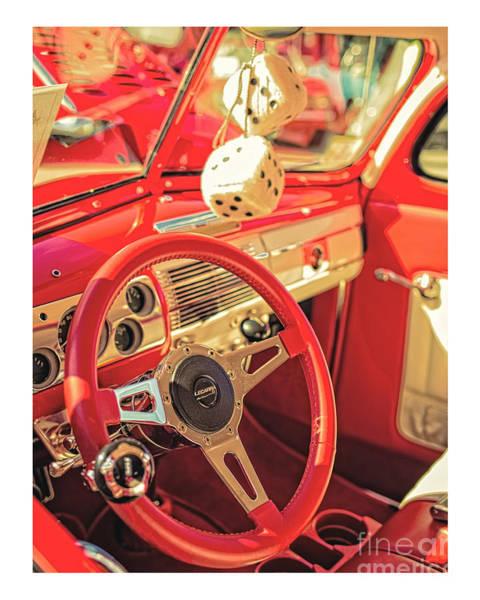 Auto Show Photograph - Fuzzy Dice by Edward Fielding