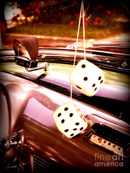 Dashboard Digital Art - Fuzzy Dice by Valerie Reeves